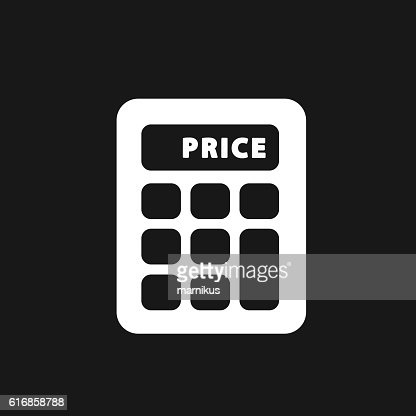 Calculator single flat icon. : Vector Art