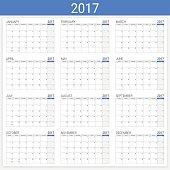 2017 calendar (or desk planner), 12 month set
