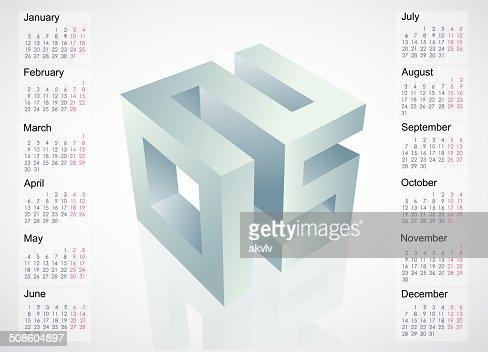 Calendário 2015 desenho : Arte vetorial