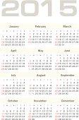 Vector calendar for 2015