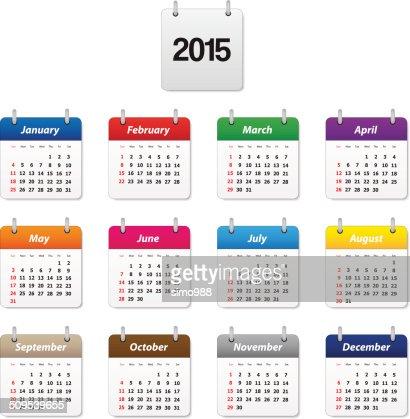 Calendario 2015 : Arte vectorial