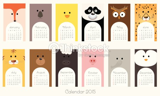 Calendar Illustration Ideas : Calendrier avec les animauxillustration clipart