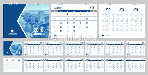 Calendar 2018 Week Start On Sunday Corporate Business Luxury ...