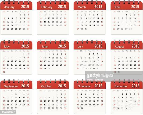 Calendar for 2015 - Vector
