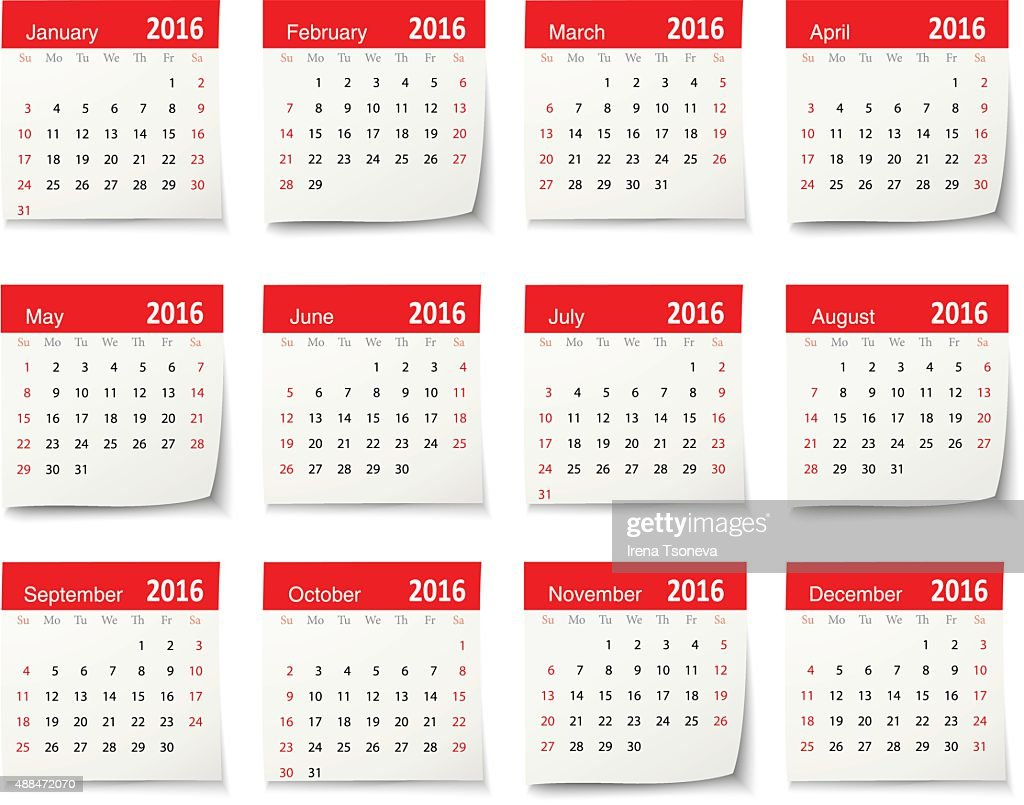 Calendar Vector Art : Calendar for vector art getty images