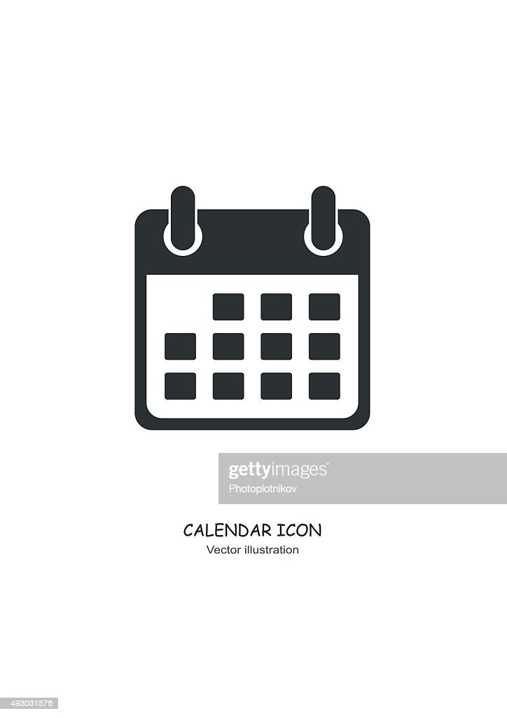 Calendar icon in Flat design style. Vector