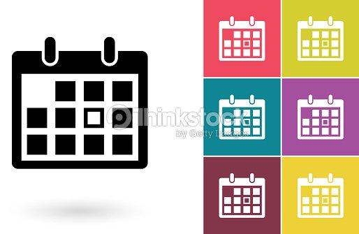 Calendario Icona.Calendario Calendario Pittogramma Icona O Arte Vettoriale