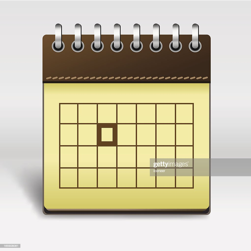 Calendar Vector Art : Calendar icon vector art getty images