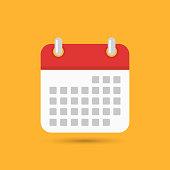 Calendar icon, vector