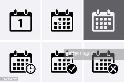 Calendar Icons Vector. : stock vector