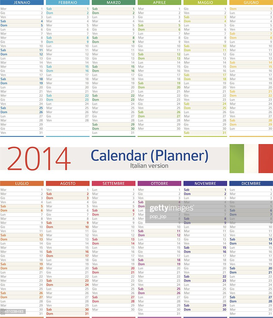 Calendar Planner Vector : Calendar planner vector art getty images