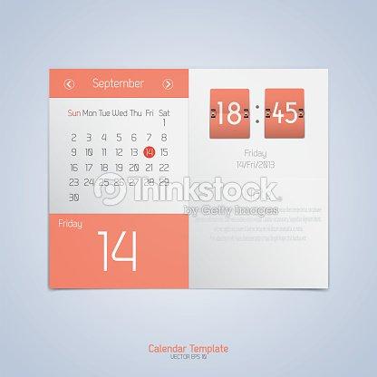 Mod le de calendrier design clipart vectoriel thinkstock - Calendrier design ...