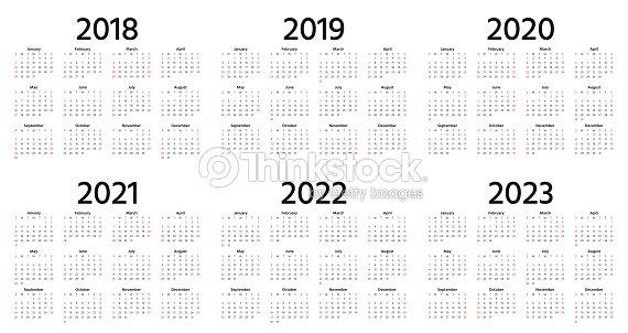 2018 2019 Calendrier 2020 Illustration Vectorielle ...