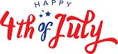 Calligraphic 4th of July Vector Text Treatment