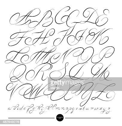 Alphabet Calligraphie Gratuit alphabet calligraphie Éléments de design clipart vectoriel | thinkstock