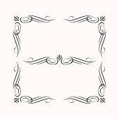 decorative calligraphic elements border corner style classic elegant look and luxury feel