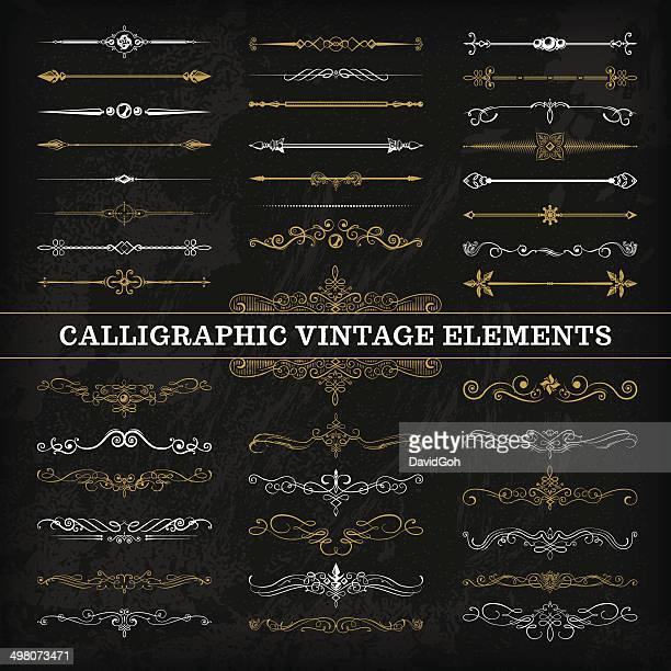 Calligraphic Elements Chalkboard