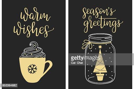 Saludos de Navidad caligráficos : Arte vectorial