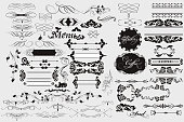 Calligraphic design elements and page decorations