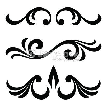 Calligraphic Design Elements Vector Art | Thinkstock