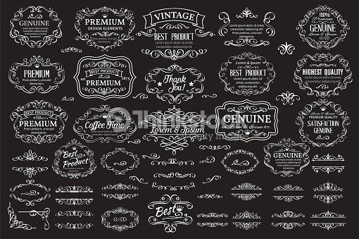 Calligraphic design elements : arte vectorial