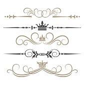 Calligraphic Design Elements, vintage, vector art