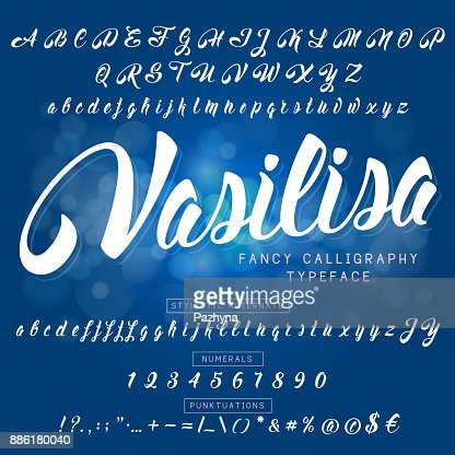Calligraphic font : stock vector