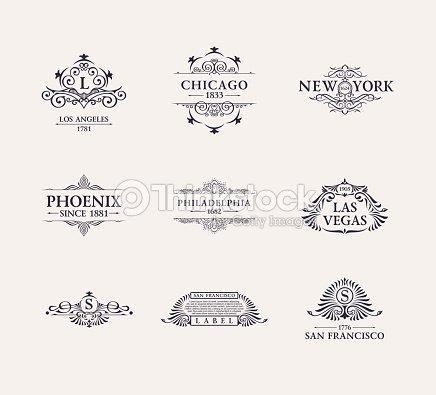 Calligraphic Luxury line icon. Flourishes elegant emblem monogram. Royal vintage divider design : stock vector