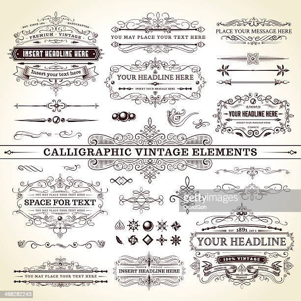 Calligraphic Vintage Elements - Complete Set