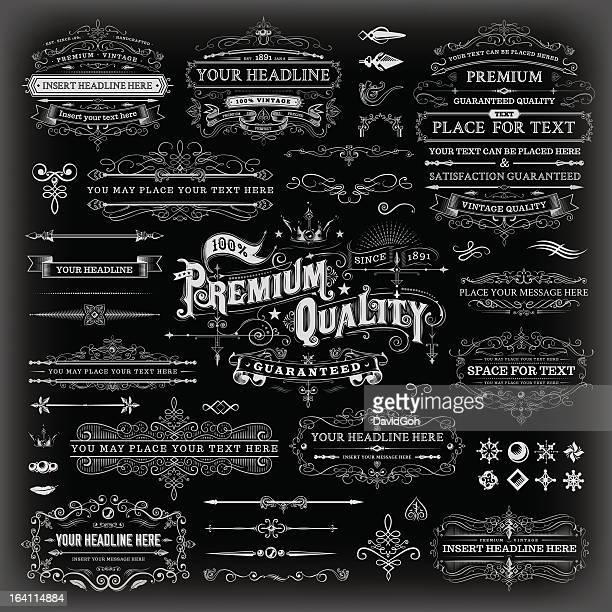 Calligraphic Vintage éléments