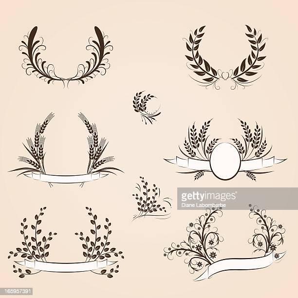 Calligraphic Couronne florale Se