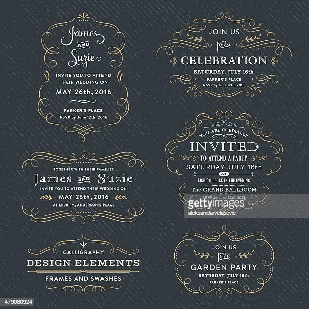 Calligraphie fête, Invitations de mariage
