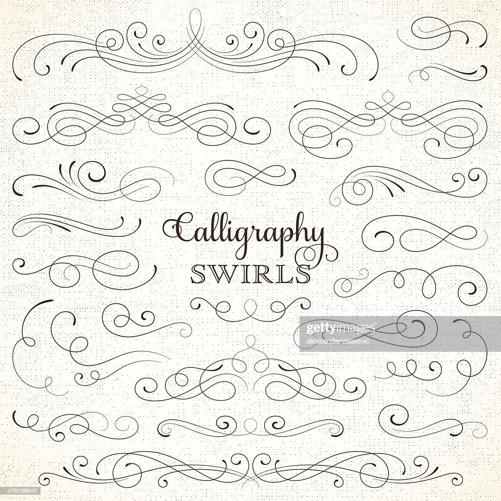 Calligraphy swirls vector art getty images