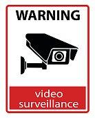 CCTV Camera. Black Video surveillance sign.vector isolated