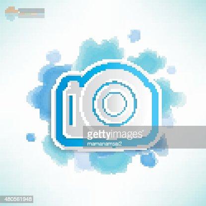 Camera design,Water colour concept,vector : Vector Art