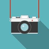 Camera icon, flat design