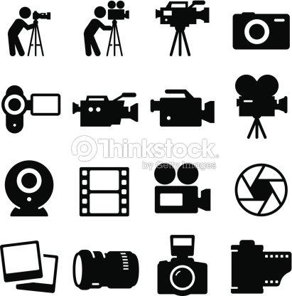 Camera Icons - Black Series : stock vector