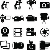 Photography, video and movie icon set.  Vector icons for video, mobile apps, Web sites and print projects. See more in this series.