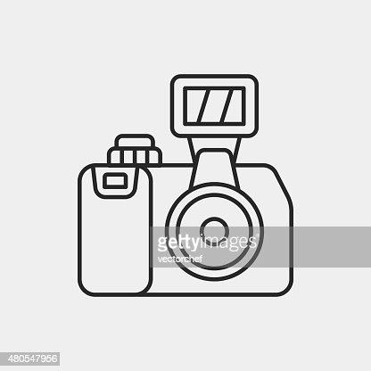 Icono de cámara : Arte vectorial