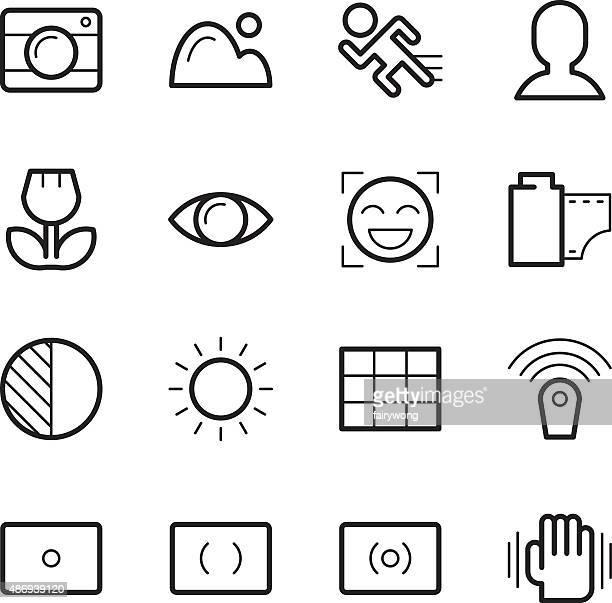 camera menu function icons