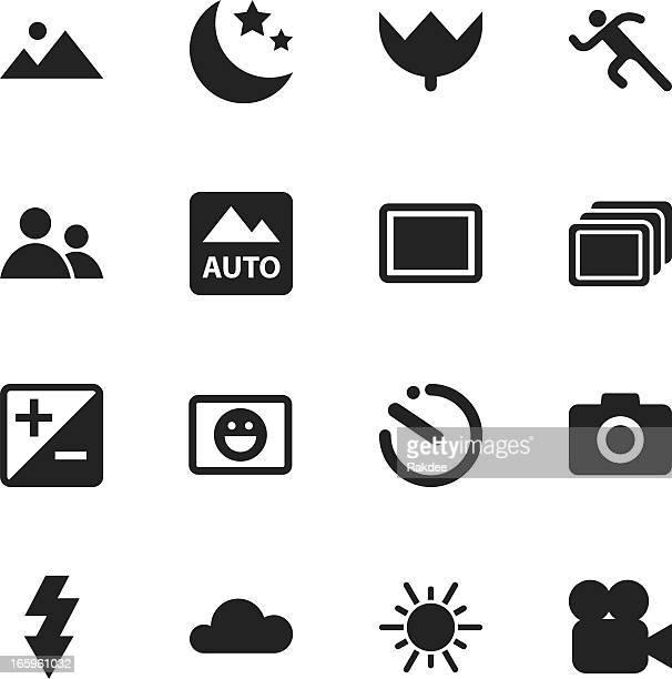 Caméra Menu Silhouette Icônes/Set 1