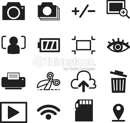 Camera Mode Icons Illustration Symbol Vector stock vector