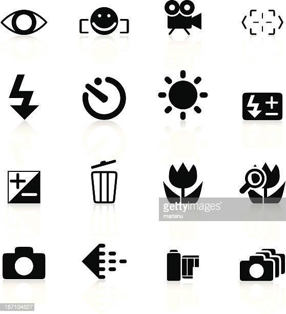 SLR camera symbols set1 - Black series
