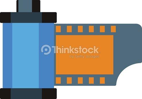 Camera Vintage Vector Free : Camera vintage film roll cartridge vector illustration vector art