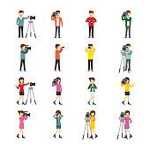 Cameraman Character Design Vector