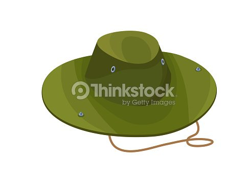 b9b917ddb12 Camouflage Hat Isolated Icon In Cartoon Style Green Clothing For ...