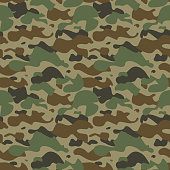 Camouflage seamless pattern. Vector illustration.