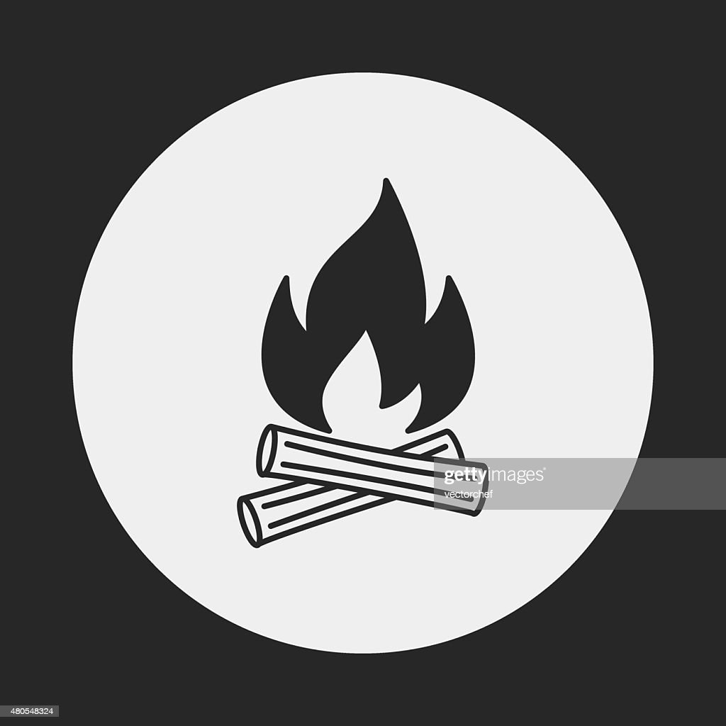 camp fire icon : Vector Art