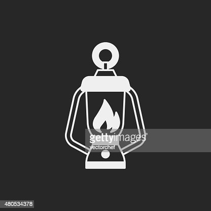 camp light icon : Vector Art