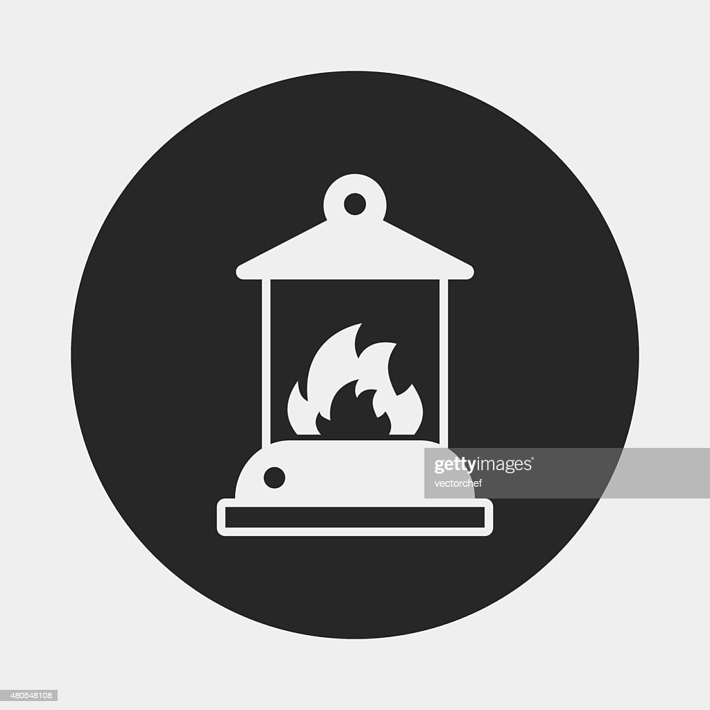 camp light icon : Vector Art